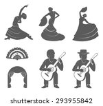 Set Of Vector Silhouettes And...