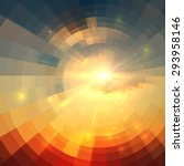 Abstract Vector Sunrise Circle...