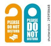 do not disturb. door hanger | Shutterstock .eps vector #293958668