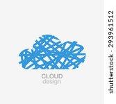cloud logo template | Shutterstock .eps vector #293961512