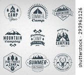 summer holidays design elements.... | Shutterstock .eps vector #293963126