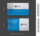 Creative and Clean Vector Business Card Template | Shutterstock vector #293964092