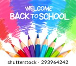 realistic set of colorful... | Shutterstock .eps vector #293964242