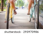 friends women riding and travel ... | Shutterstock . vector #293970986