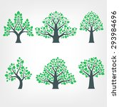 collection of tree silhouettes | Shutterstock . vector #293984696
