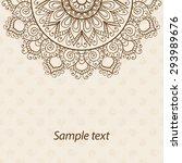 card  invitation or menu in... | Shutterstock .eps vector #293989676