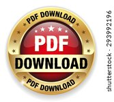 red pdf download badge with...