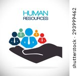 human resources design  vector... | Shutterstock .eps vector #293999462