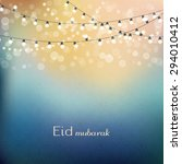 eid mubarak greetings... | Shutterstock .eps vector #294010412
