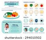 health benefits information of... | Shutterstock .eps vector #294010502