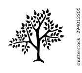 tree silhouette isolated... | Shutterstock .eps vector #294012305