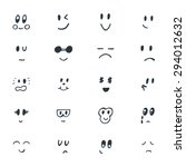 set of hand drawn funny smiley... | Shutterstock .eps vector #294012632