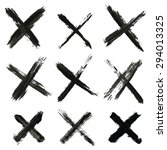 set of grungy crosses | Shutterstock .eps vector #294013325