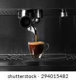 hot coffee flow to a cup on... | Shutterstock . vector #294015482