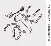 insect doodle | Shutterstock . vector #294030752
