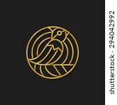 vector bird logo template.... | Shutterstock .eps vector #294042992