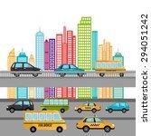 urban digital design  vector... | Shutterstock .eps vector #294051242