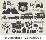 road trip design elements,travel icon set