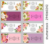 invitations with floral... | Shutterstock .eps vector #294060242