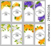 wedding invitation cards with... | Shutterstock .eps vector #294061106