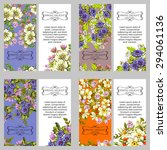 wedding invitation cards with... | Shutterstock . vector #294061136