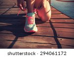 young fitness woman runner... | Shutterstock . vector #294061172