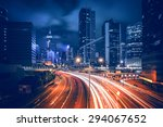 hdr image of hong kong rush and ... | Shutterstock . vector #294067652