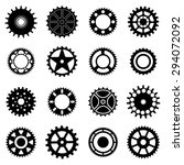 gear wheels icons set | Shutterstock .eps vector #294072092