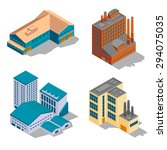 isometric factory and... | Shutterstock . vector #294075035
