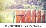 Retro Wooden Garden Gate And...