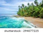 Wild Caribbean Beach Of Costa...