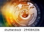 words news on digital yellow... | Shutterstock . vector #294084206