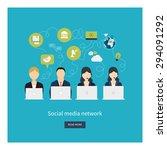 social network and teamwork... | Shutterstock .eps vector #294091292