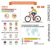 cycling  bicycle  infographics... | Shutterstock .eps vector #294092252