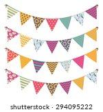 vintage garland | Shutterstock .eps vector #294095222