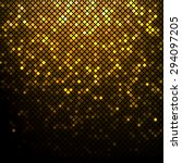 shining golden disco mosaic... | Shutterstock .eps vector #294097205