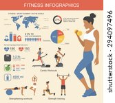 fitness infographics elements.... | Shutterstock .eps vector #294097496