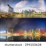 Collage Of Singapore Skyline...