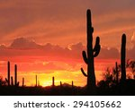 Sunset In The Desert With...