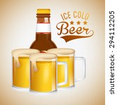 ice cold beer design  vector... | Shutterstock .eps vector #294112205