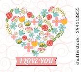 love card design  vector...   Shutterstock .eps vector #294113855