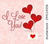 love card design  vector... | Shutterstock .eps vector #294114356