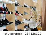 Beautiful Girl Chooses Shoes I...