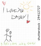 I Love You Daddy  Vector Card...