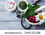 alternative medicine herbs and... | Shutterstock . vector #294132188