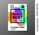 party flyer template. vector... | Shutterstock .eps vector #294138578