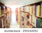 books on bookshelf in library ... | Shutterstock . vector #294142052