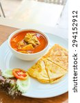chicken curry with roti | Shutterstock . vector #294152912