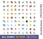 different icons in big isometry ... | Shutterstock .eps vector #294153782