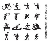 sport icons set  | Shutterstock .eps vector #294159218